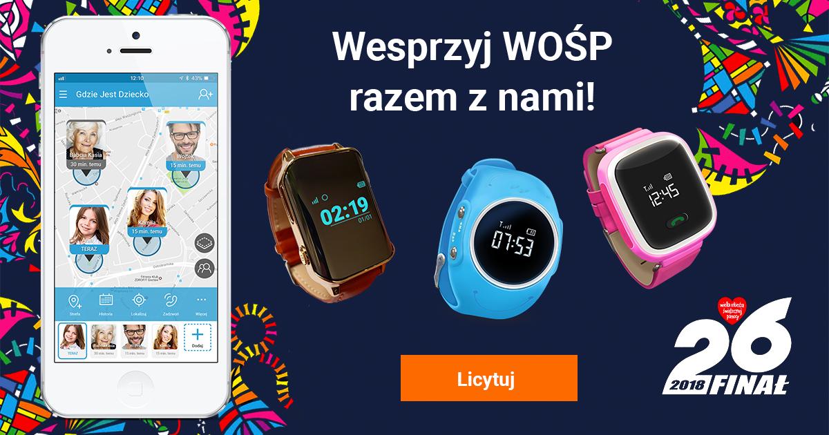 WOŚP_FB_post gdzie jest dziecko aukacja zegarek gps dla dziecka zegarek gps dla osób sarszych